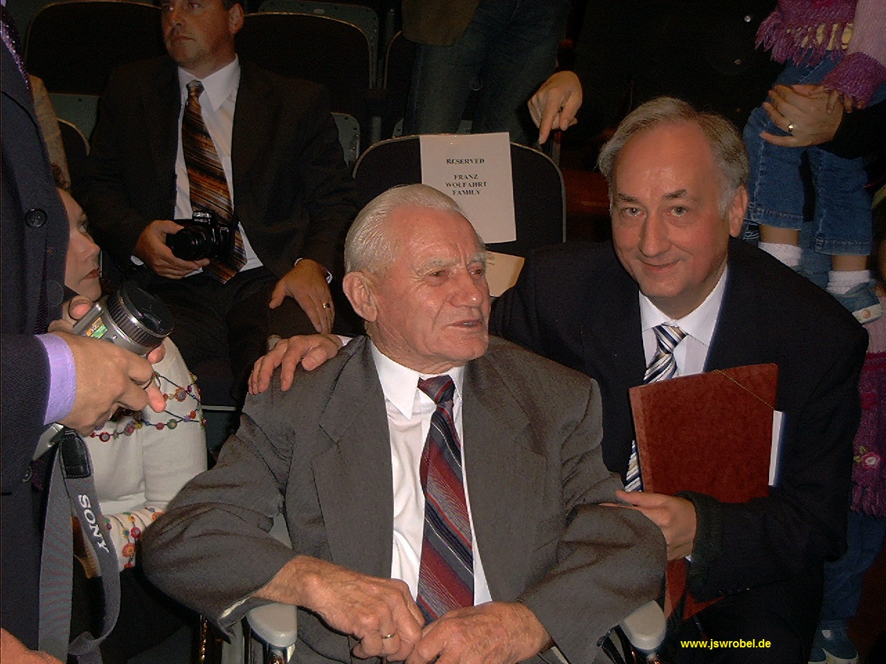 Franz Wohlfahrt and Johannes S. Wrobel at USHMM, October, 5 2006