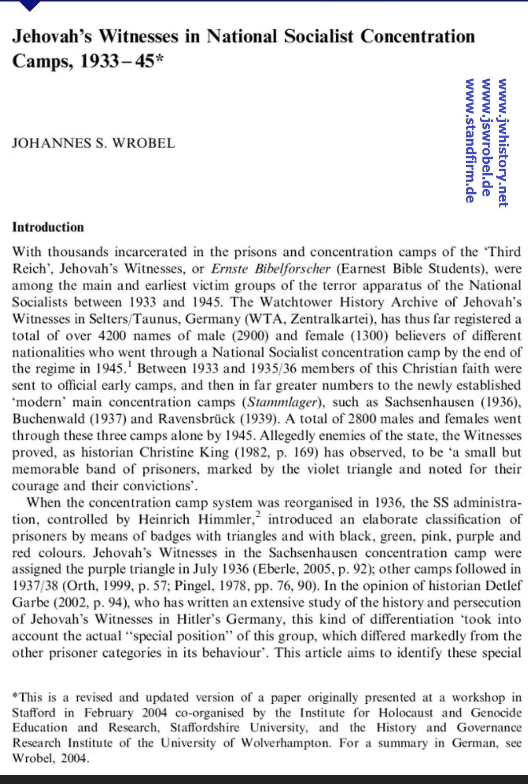Religion, State & Society, Vol. 34, No. 2, June 2006